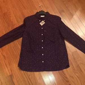 Dark Purple Levi's Button Up! NEW WITH TAGS!